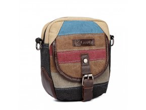 Malá plátenná taška - dúhová