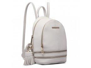 Roztomilý dizajnový batôžtek - biely