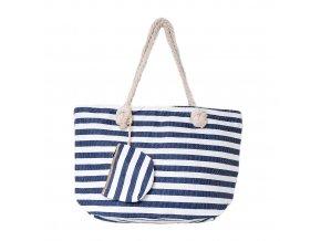 Plážová taška - Modro biele pruhy