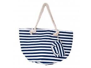Plážová taška - Modro biele pruhy užšie