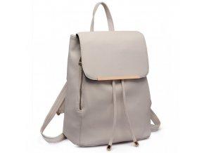 Elegantný dámsky ruksak - Bledo Sivý