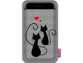 Štýlové puzdro na mobil - Mačacia Láska