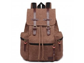 Veľký outdoorový multifunkčný pánsky batoh KONO - kávový