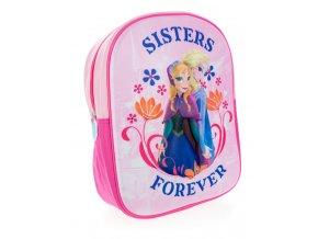 Dievčenský 3D deluxe batôžtek Frozen - Sisters Forever- ružový