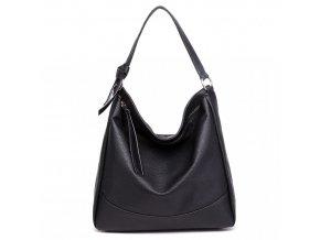 Stredne veľká Miss Lulu taška na rameno - čierna