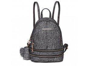 Roztomilý dizajnový batôžtek - čierny s trblietkami