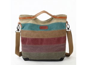 Kono dúhová canvas taška  -  NAPPA PATCH