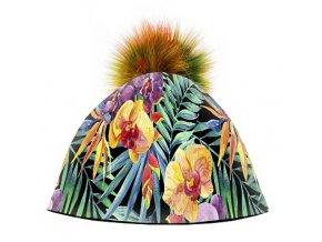 Dizajnová dámska čiapka s veľkým brmbolcom- Exzotic