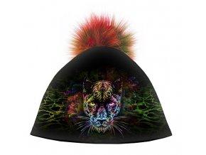 Dizajnová dámska čiapka s veľkým brmbolcom- Black