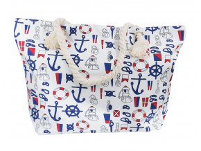 Plážová taška - Marina Bílá