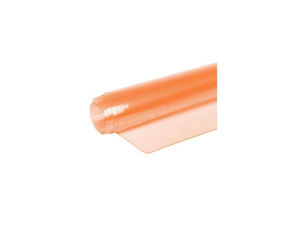 transparentni oranzovy pcv folie 050 mm