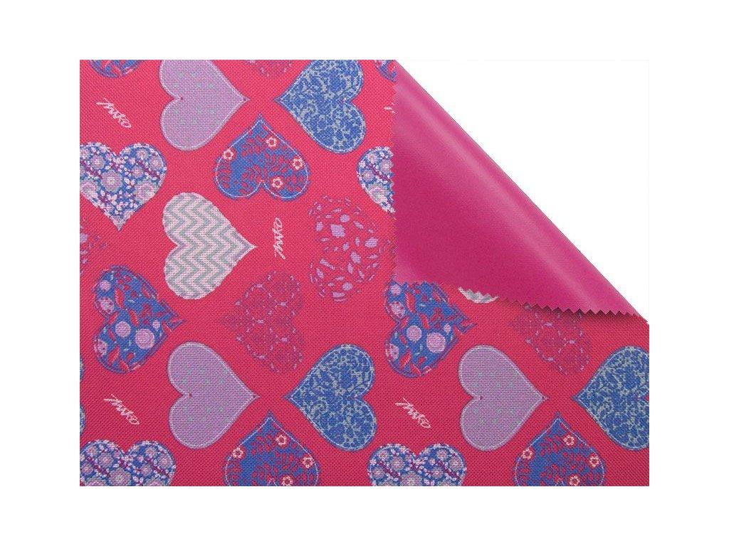 polyesterova tkanina premium 600d300d potazena pvc f ruzove srdce 150 cm 1 m (1)