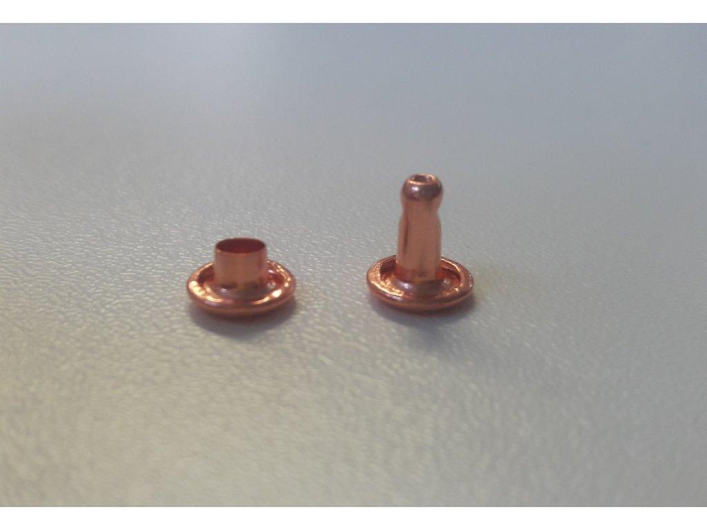 Nýt - růžové zlato - 7mm
