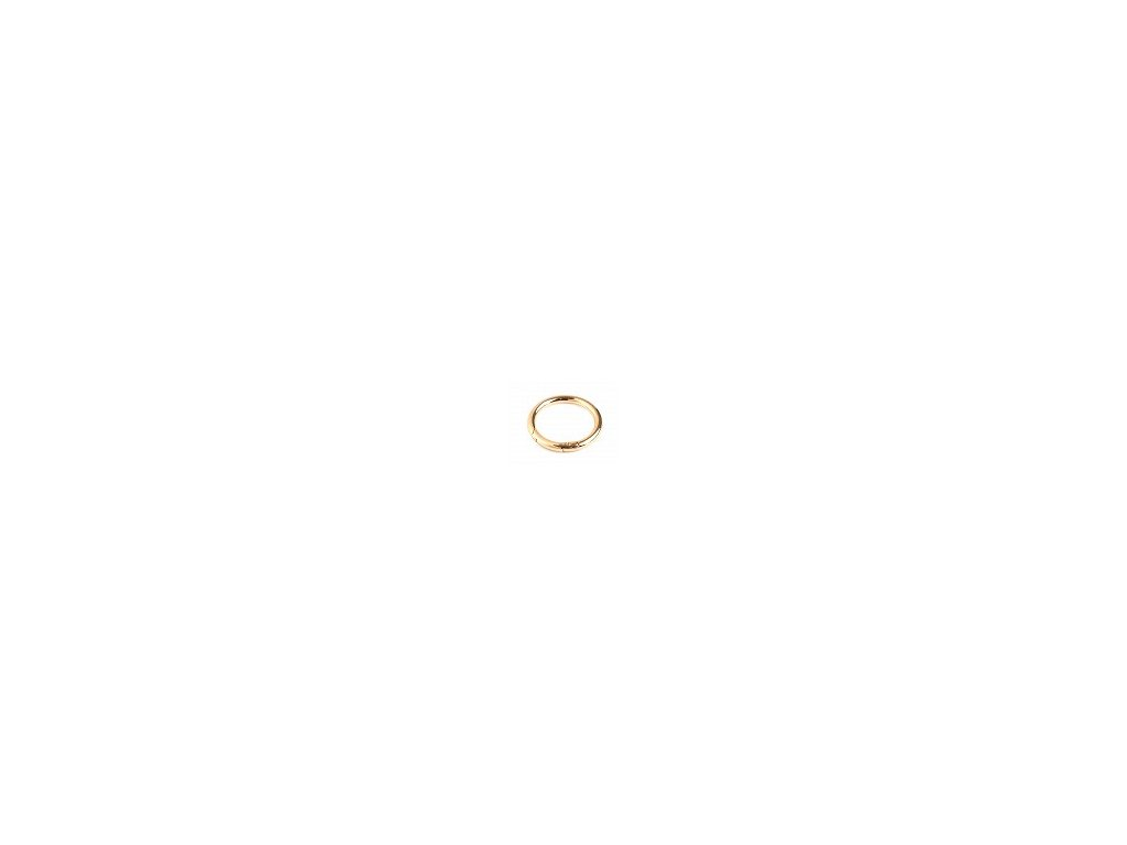 Kruhová kovová karabina BAGGI 32 mm zlatá