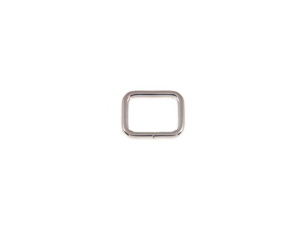 kovovy ram 33 25 6 mm niklovy polysk drat