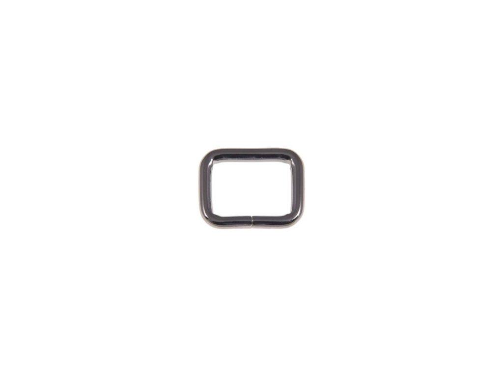 kovovy ram 33 25 6 mm cerny niklovy drat