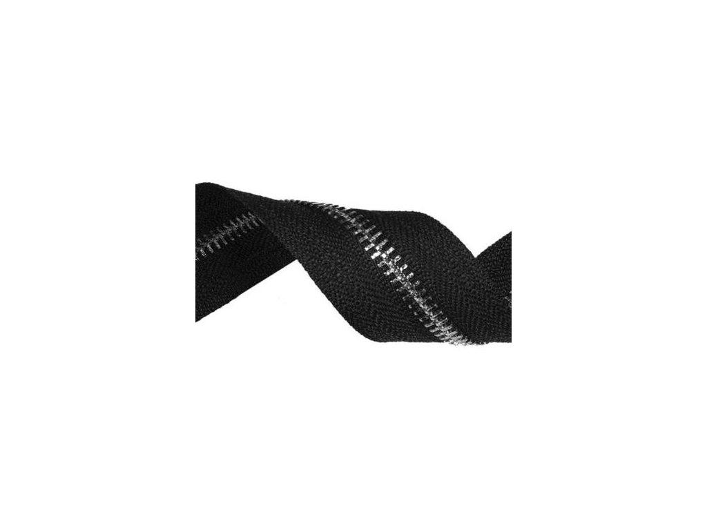 tasma suwakowa pes metalowa 8 czarna 580 36 mm nikiel polysk 50 mb
