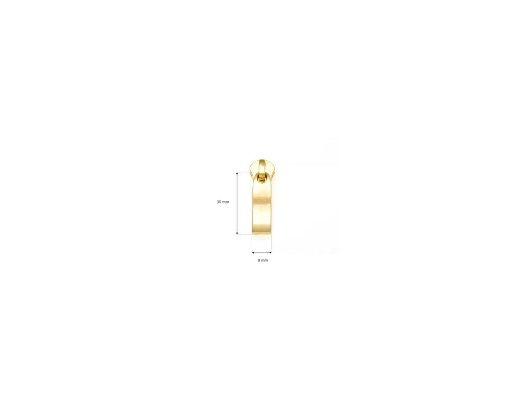 jezdec ke kovovym zipum 5 non lock 0292 2014 zlato 1 ks (1)