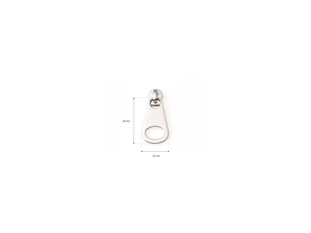 suwak do tasmy suwakowej metalowej 5 non lock 3214 nikiel polysk 200 szt (1)