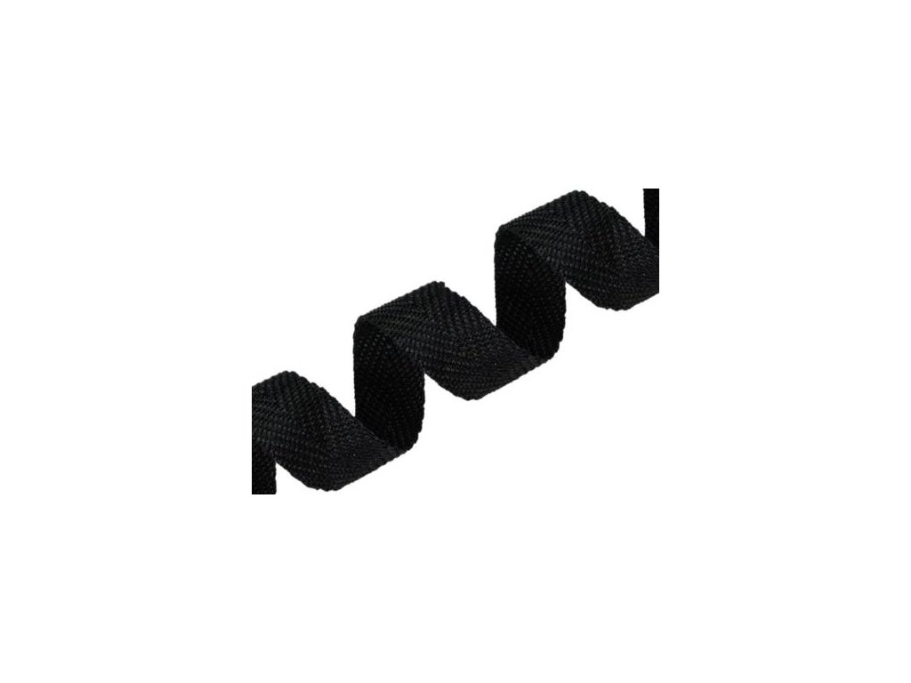 Popruh - černý - 25 mm