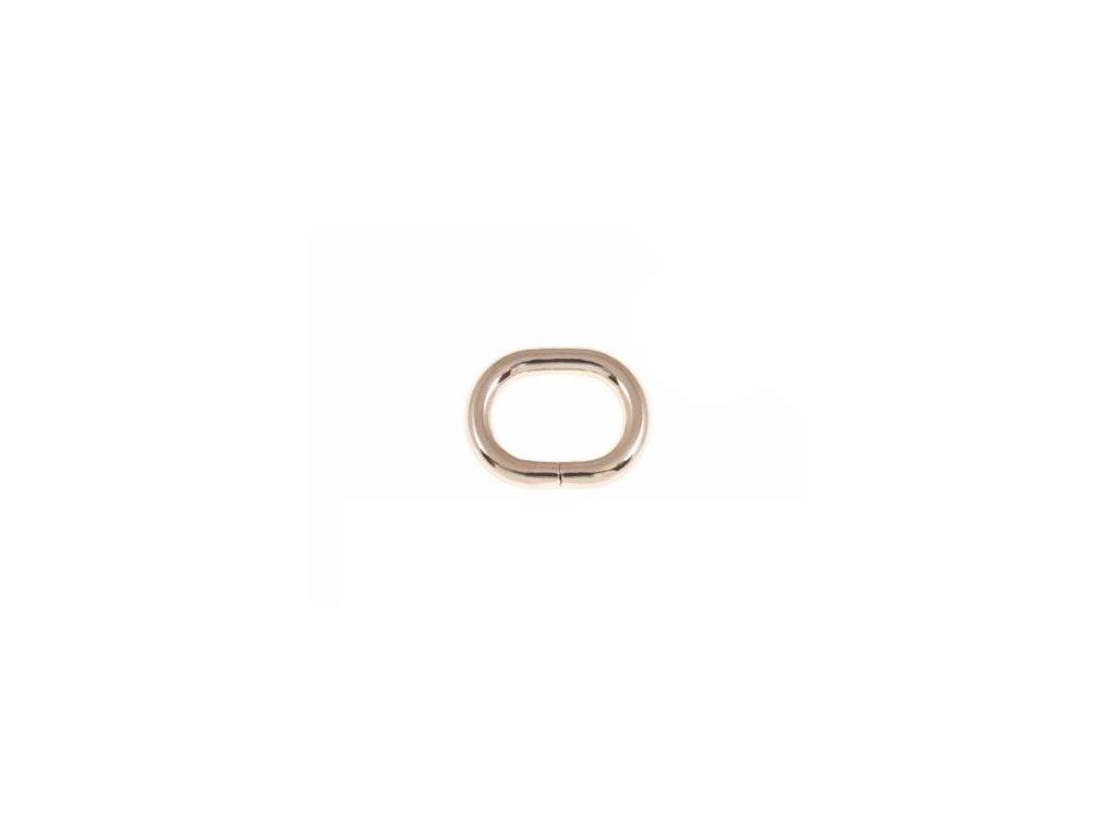 kovove kolecko oval 25 16 58 mm zlato drat 100 ks1