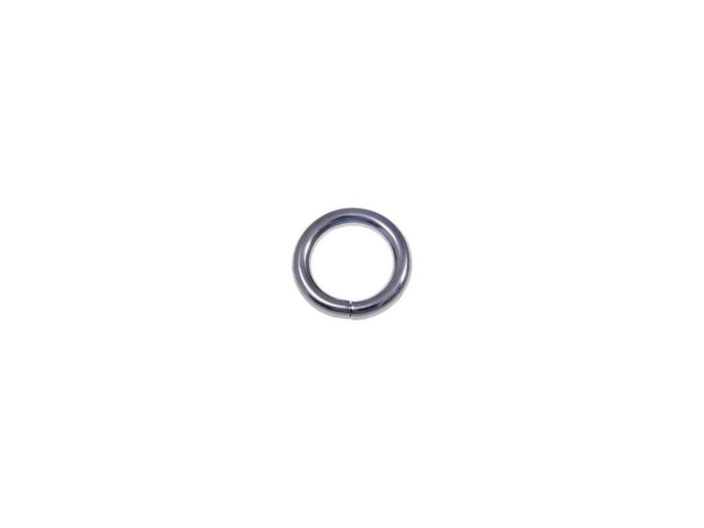 kovove kolecko 25 6 mm cerny nikl drat 100 ks1