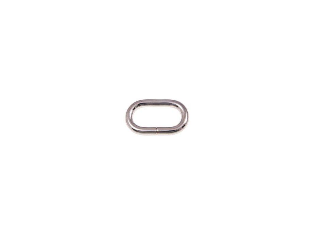 kovove kolecko oval 32 16 58 mm nikl lesk drat 100 ks1