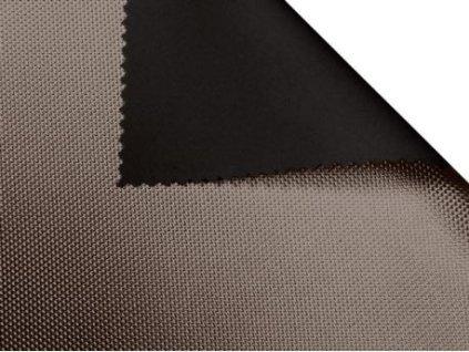 polyesterova tkanina 1680d potazena pvc double cerna 580 zlata 150 cm 1 m