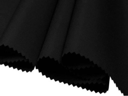 polyesterova tkanina 600d pu cerna 160 cm 1 m