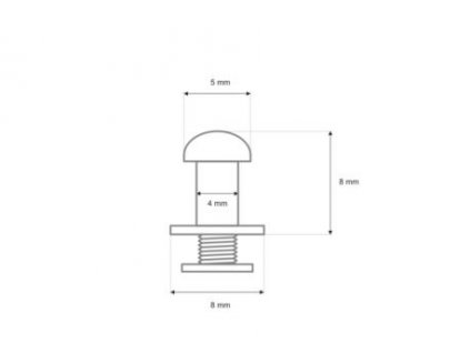 koncovka 8 8 5 mm nikl lesk 200 ks 16009 (1) 2