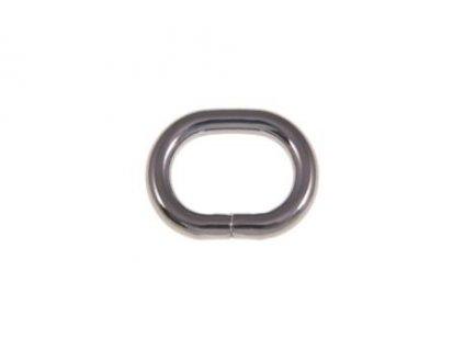 kovove kolecko oval 25 16 58 mm cerny nikl drat 100 ks 2
