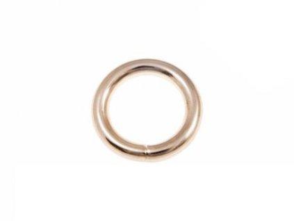 kovove kolecko 25 6 mm zlato drat 100 ks1