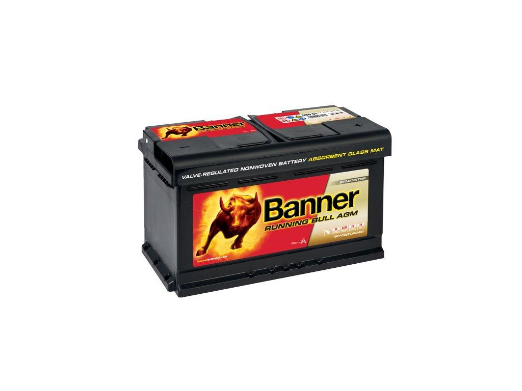 Autobaterie Banner Running Bull AGM 580 01, 80Ah, 12V ( 58001 )