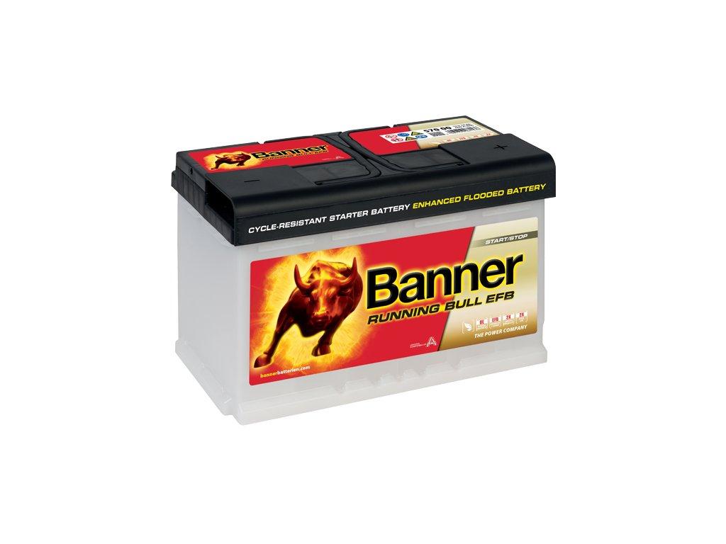 Autobaterie Banner Running Bull EFB 570 00, 70Ah, 12V ( 57000 )