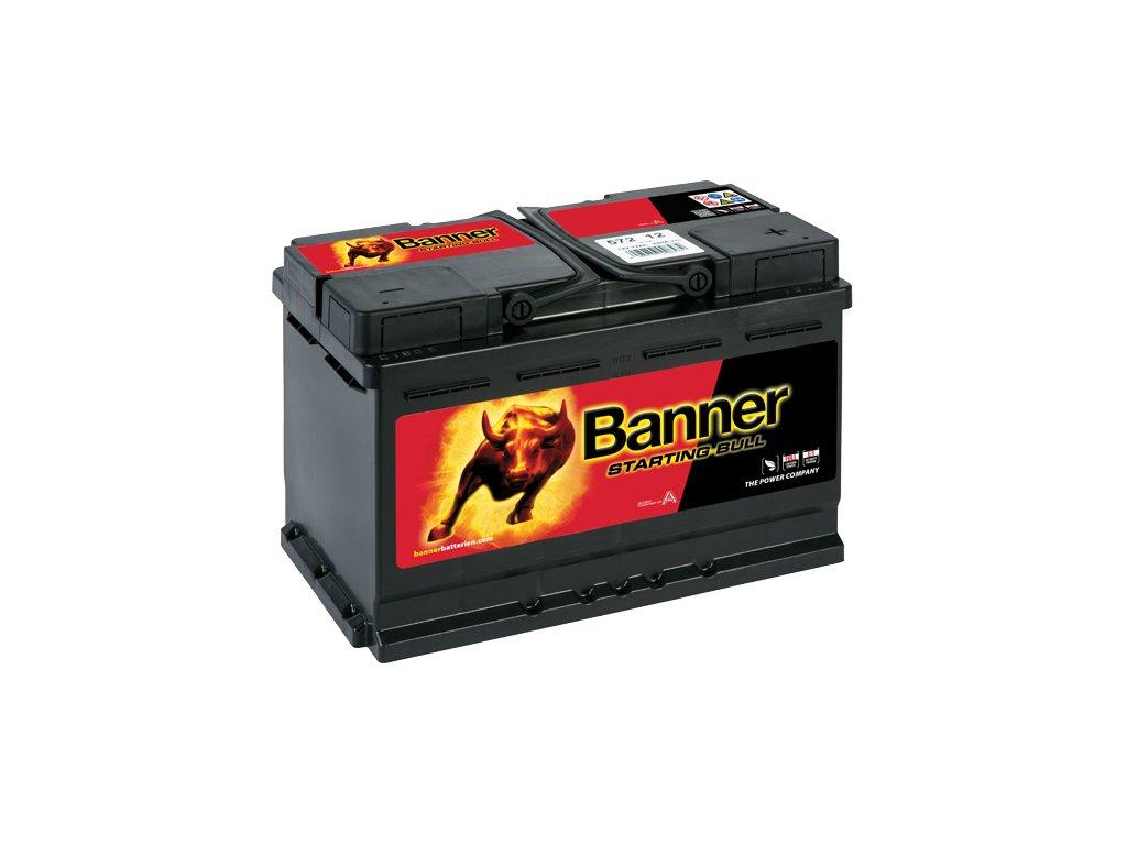 Autobaterie Banner Starting Bull 572 12, 72Ah, 12V ( 57212 ), technologie Ca/Ca