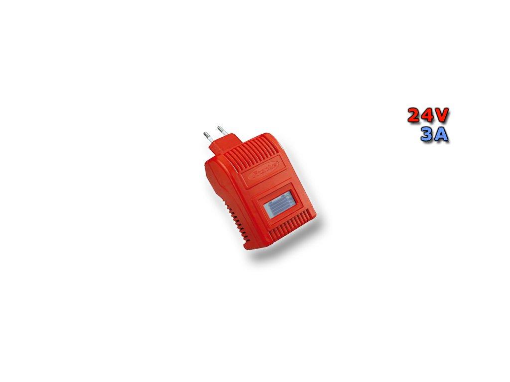 Nabíječka Banner Acctiva Easy 2403, 24V, 3A (včetně nabíjecího kabelu a uni. zásuvky)