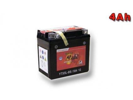 Motobaterie Banner Bike Bull AGM YTX5L-BS, 4Ah, 12V