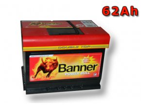 Autobaterie Banner Power Bull P62 05, 62Ah, 12V ( P6205 ), technologie Ca/Ca