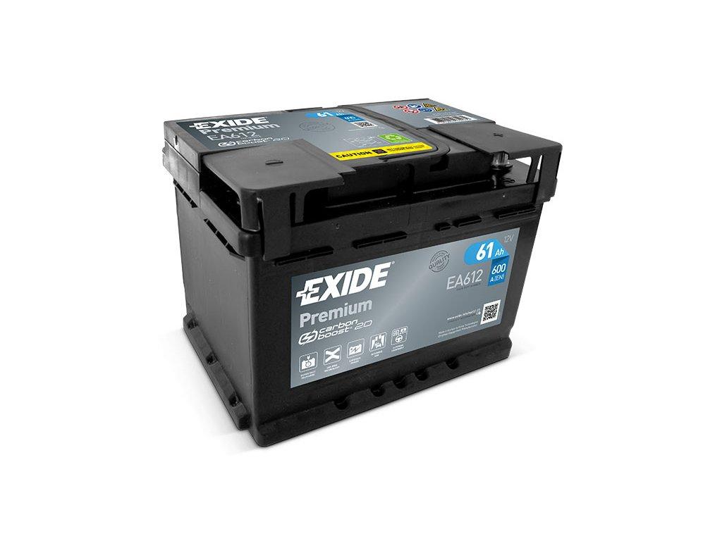 Autobaterie EXIDE Premium 61Ah, 12V, EA612