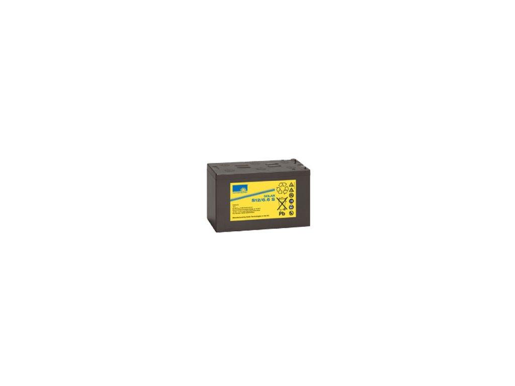 Gelový trakční akumulátor SONNENSCHEIN S12/6.6, 12V, C5/4.6Ah, C20/5.7Ah