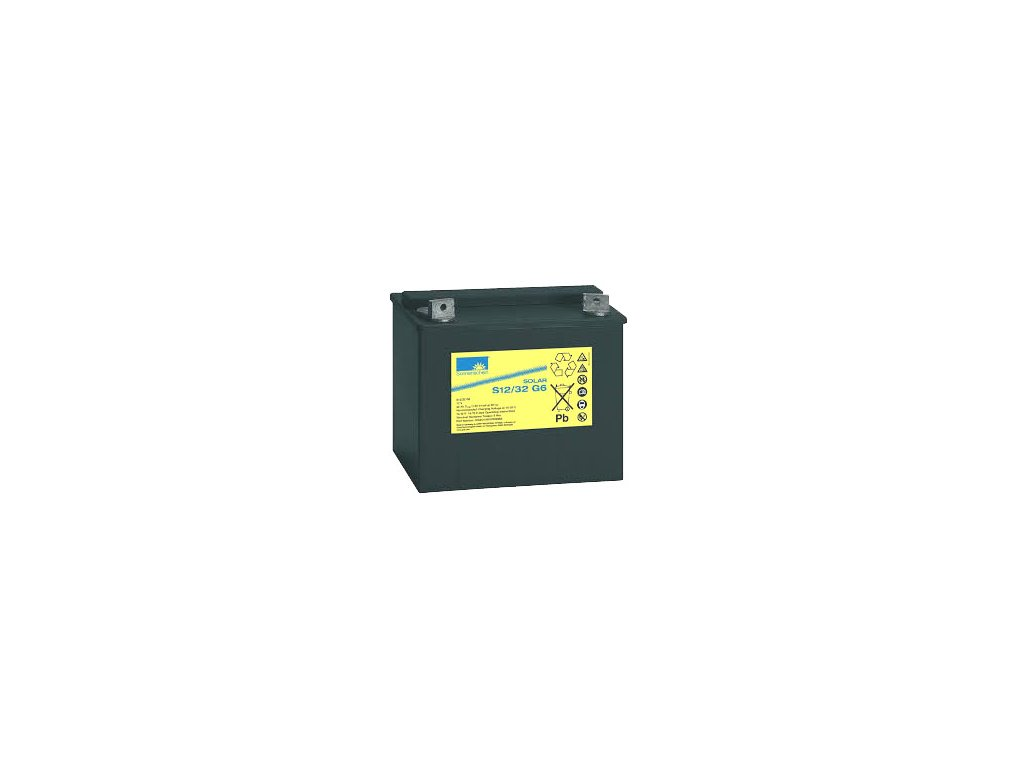 Gelový trakční akumulátor SONNENSCHEIN S12/32 G6, 12V, C5/24.4Ah, C20/28Ah