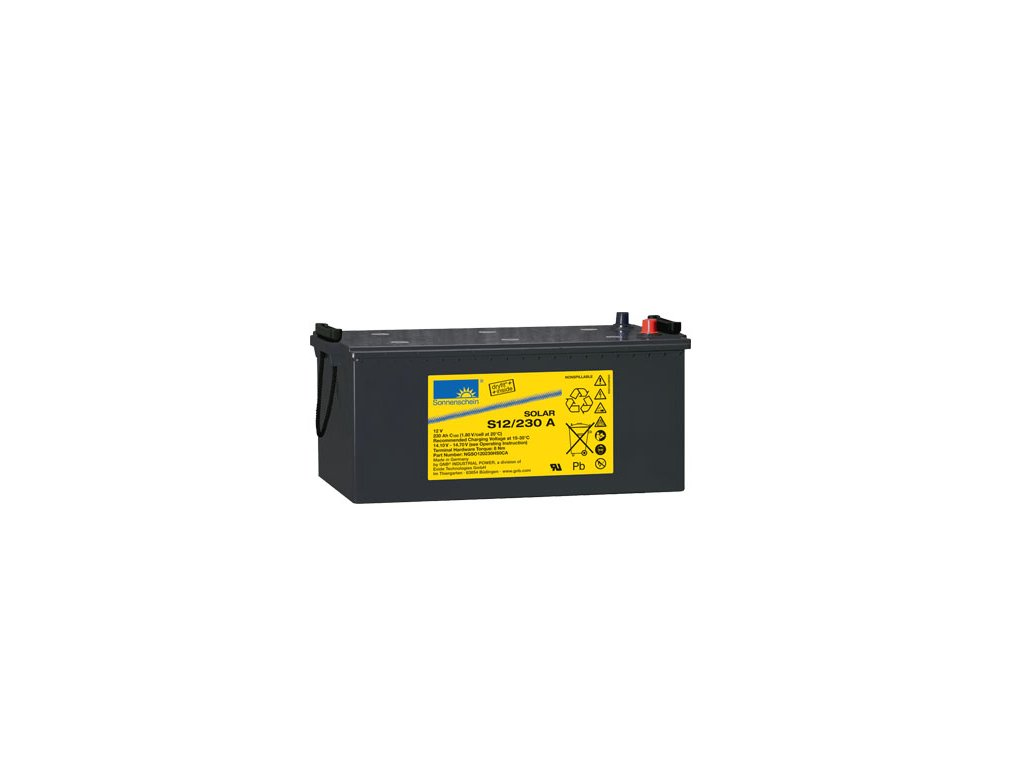 Gelový trakční akumulátor SONNENSCHEIN S12/230 A, 12V, C5/170Ah, C20/200Ah