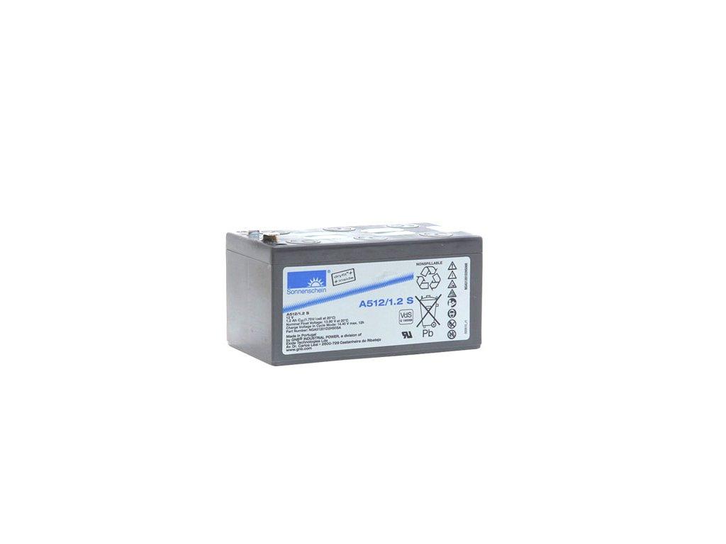 Gelový trakční akumulátor SONNENSCHEIN A512/1.2 S, 12V, 1,2Ah