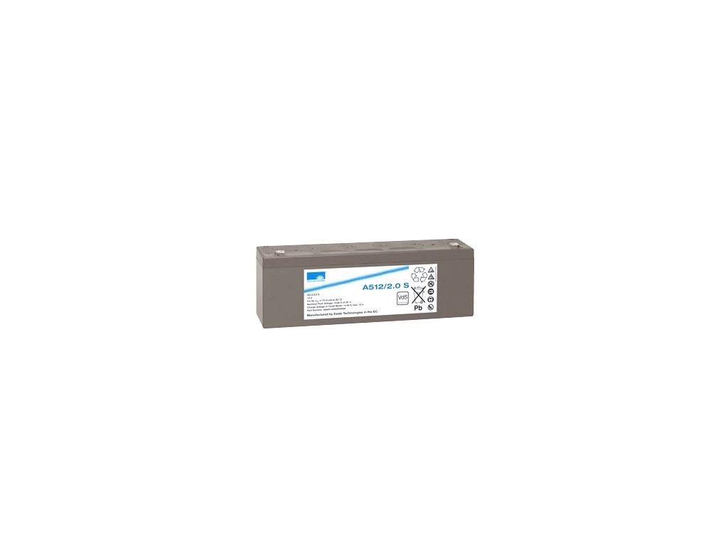 Gelový trakční akumulátor SONNENSCHEIN A512/2 S, 12V, 2Ah