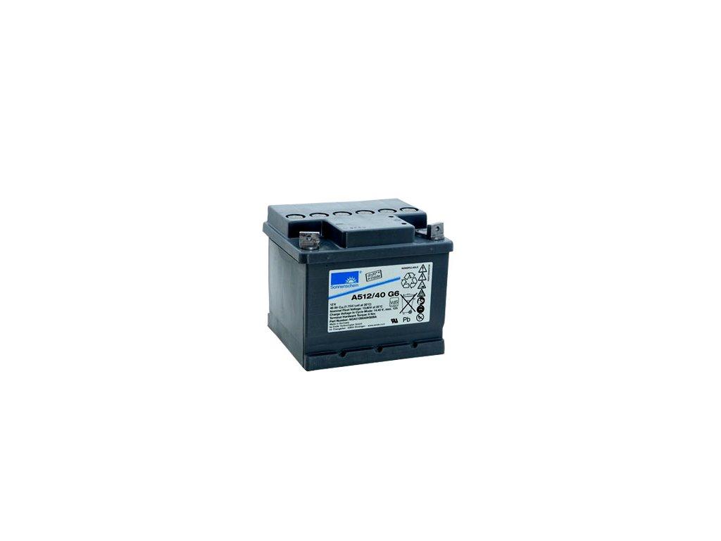 Gelový trakční akumulátor SONNENSCHEIN A512/40 G6, 12V, 40Ah