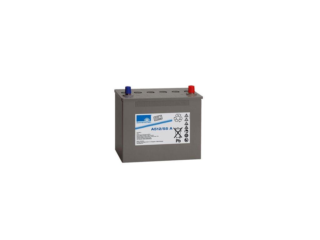 Gelový trakční akumulátor SONNENSCHEIN A512/55 A, 12V, 55Ah