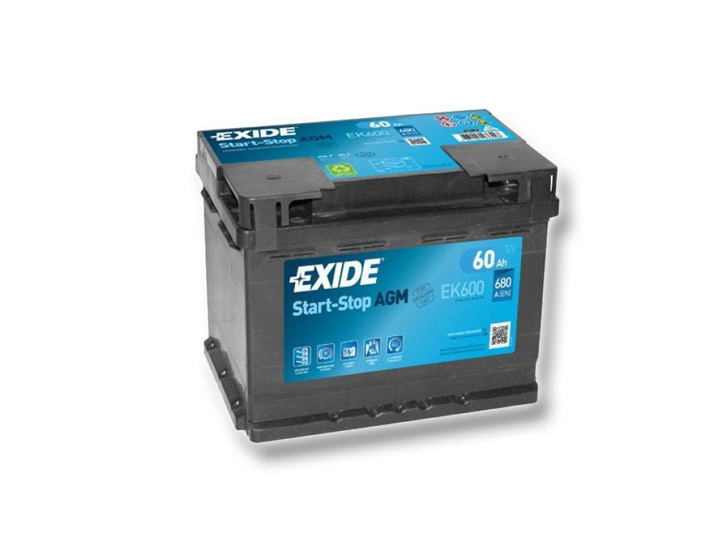 Autobaterie EXIDE START-STOP AGM 60Ah, 12V, EK600