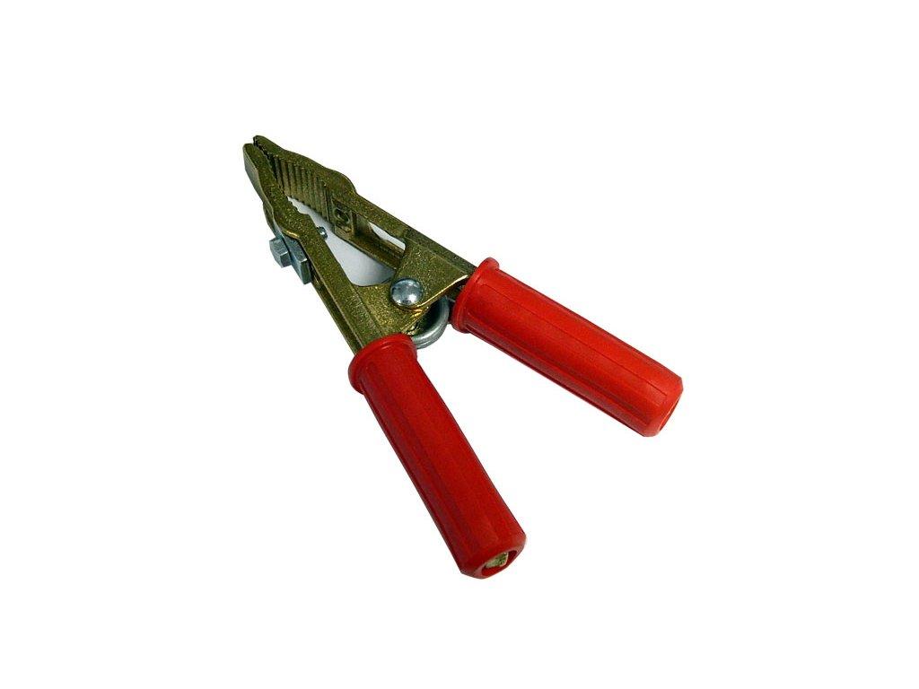 Kleště bateriové 500A, profi,červená
