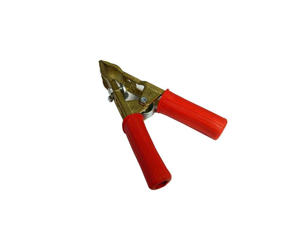 Kleště bateriové 700A, profi,červená