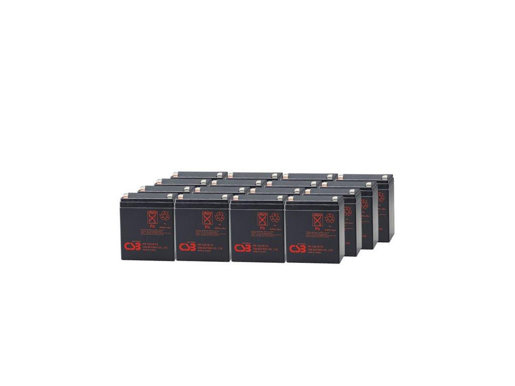 APC RBC140, alternativa bez příslušenství (16ks CSB HR1221 F2)